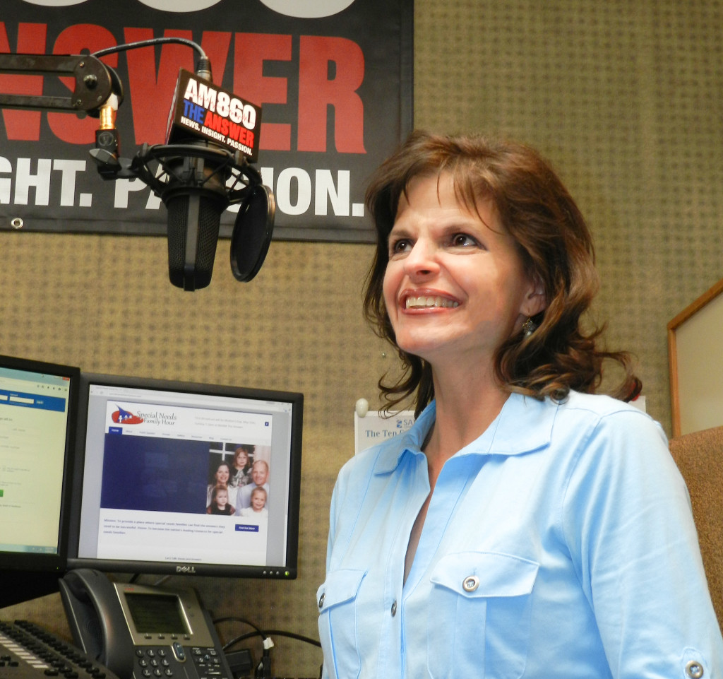 Julie Ames at her first radio test