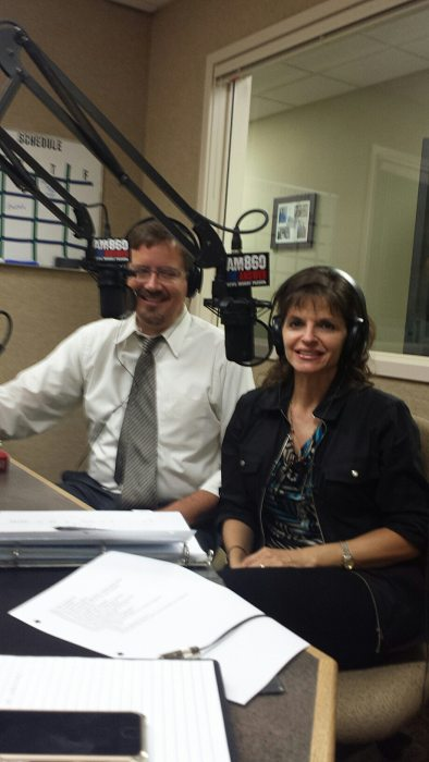 Jay Hemness and Julie Ames recording the Guardianship 2 part special show