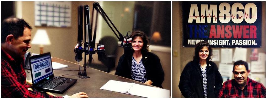 Jose Cruz, On-Air Studio Engineer and Julie Ames, SNFH